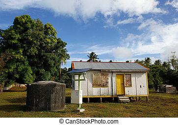 Local house on Ofu island, Tonga - Local house on Ofu...