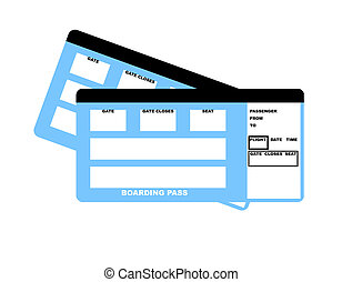 Airline tickets - Illustration of two blank airline boarding...