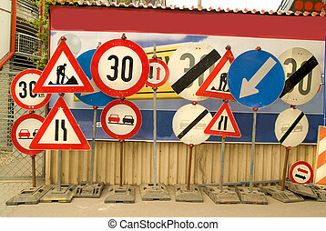 traffic signs - different traffic signs