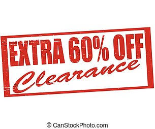 Extra fifteen percent off - Stamp with text extra fifteen...