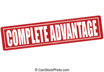 Complete advantage - Stamp with text complete advantage...