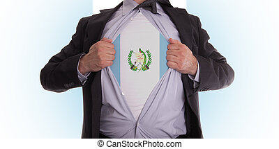 empresa / negocio, hombre, guatemala, bandera, Camiseta