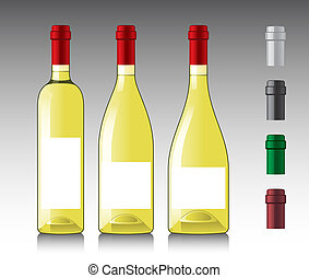 White wine bottles - Three different white wine bottles