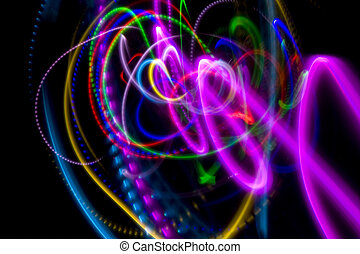 Painting with Light Background - Abstract Background -...