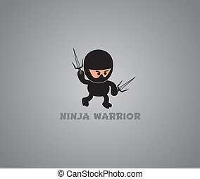 ninja character theme vector graphic art design illustration
