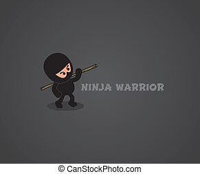 ninja character theme vector graphic art design illustration