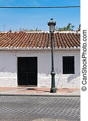 front side of typical spanish house