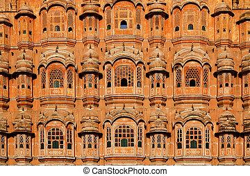 Hawa Mahal, Palace of Winds at Jaipur, Rajasthan, India