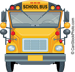 School Bus - Cartoon illustration of a school bus