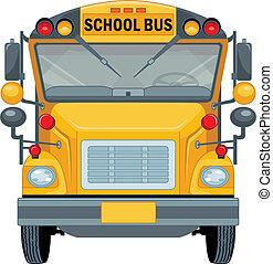 escuela, autobús