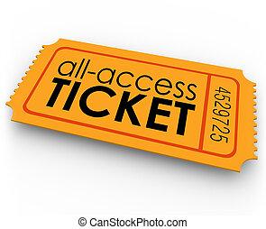 todos, Acceso, boleto, paseos, Película,...