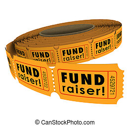 Fundraiser 50 Fifty Raffle Ticket Roll Charity Event Raising Mon