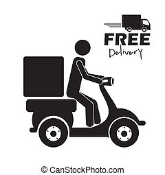 Delivery design over white background, vector illustration