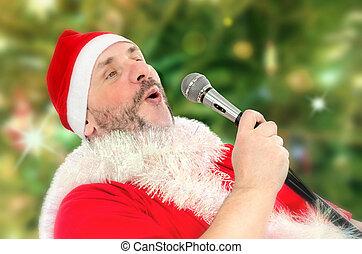 Santa Claus belting Ho-ho-ho