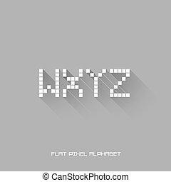 W X Y Z - Flat Pixel Alphabet