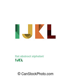 Modern Simple Abstract Colorful Alphabet - Flat Design -...