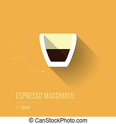 Simple Modern Espresso Macchiato Manual Wallpaper - Flat...