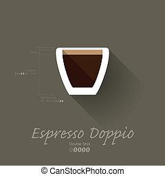 Simple Modern Espresso Doppio Manual Wallpaper