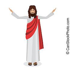 Jesuschrist design - Jesuschrist design over white...