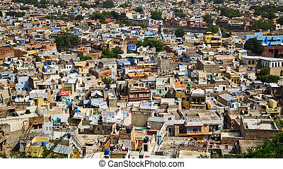 Jodhpur - View of jodhpur city in Rajasthan, India, called...