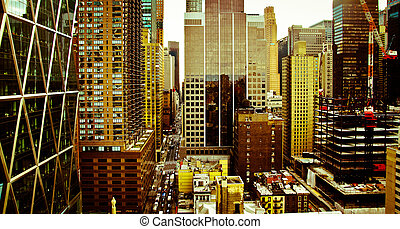 New york city - Point view on buildings of New York, United...