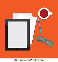 E-book tablet