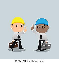 Contractor argue