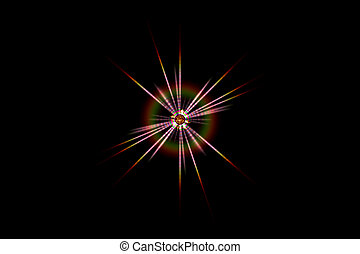 computer generated radiation light effect - closeup of...
