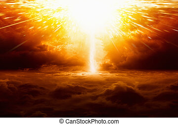 Huge explosion - Abstract apocalyptic background - huge...