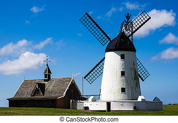 Windmill at Lytham-st-Annes - White painted windmill at...
