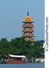 The Chee Chin Khor pagoda in Bangkok - The Chinese style...
