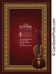 Cover  for notes  with violin image