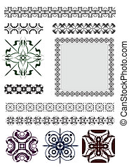 Collection of Ornamental Rule Lines in Different Design...