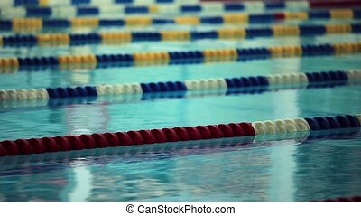 Swimming Lane Marker - empty swimming pool close to Loop...