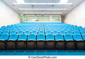 Empty conference hall. - Interior of empty conference hall...