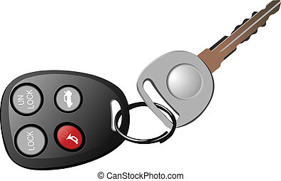 Car key with remote control isolate