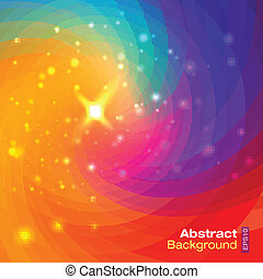 Abstract circular colorful background, vector illustration...