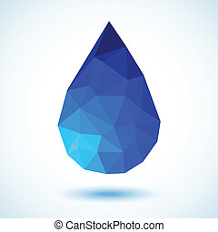 Geometric Blue Drop, vector illustration for your design