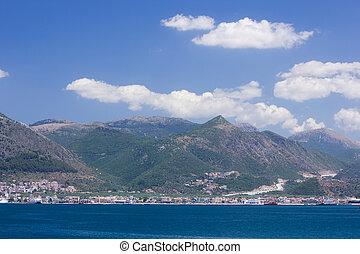 Igoumenitsa harbor at west coast of Greece