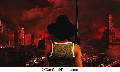 Armageddon woman
