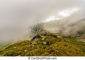Landscape with the spectacular Parang  mountains in Romania