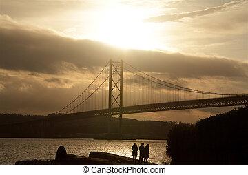 Scottish Bridge - The Forth Road Bridge Queensferry...