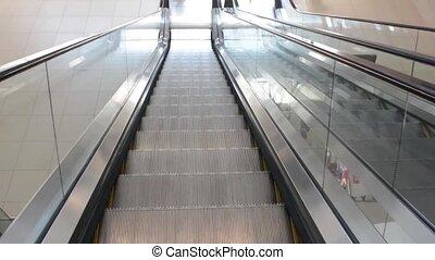 escalator - down escalator in shopping center