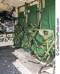 Inside the rear of a Dutch military vehicle - Look inside...