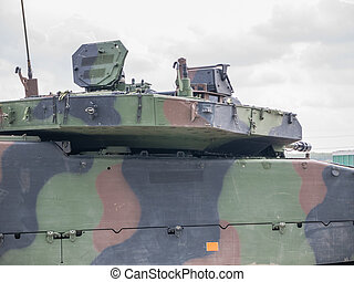 Dutch military vehicle - Top of a Dutch military armored...