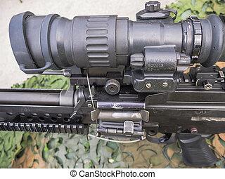 Machine gun Dutch military - Machine gun as used by the...