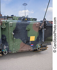 Dutch military vehicle - The back of a Dutch military...