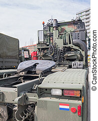 Dutch military truck - Back of a large Dutch military truck...