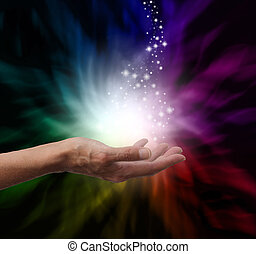 Magical Healing Energy - Healers hand outstretched into...