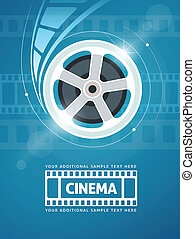Cinema movie film - Cinema movie movie on disc and flaress...